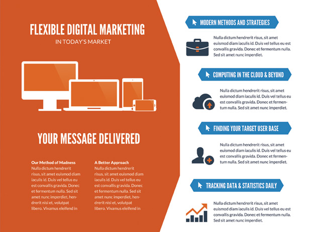 Online Marketing Brochure PSD - Vandelay Design - marketing brochure