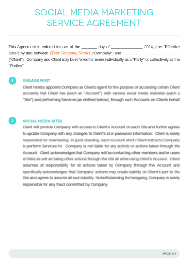 Simple Marketing Contract Template – Simple Service Agreement Template