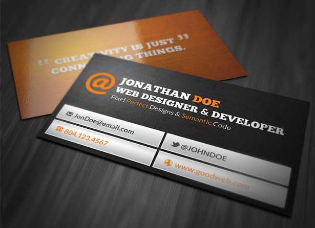 Web-designer-card615jpg (615×446) Business Cards Inspiration - free invoice forms to print