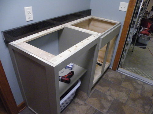 Laundry Room Cabinet With Storage And Sink By Scarecrow