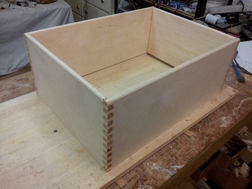 Cherry File Cabinet #3: Box Joints (Or How Not To Make A Plywood