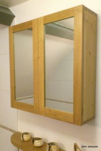 Dovetail English Oak Bathroom Cabinet