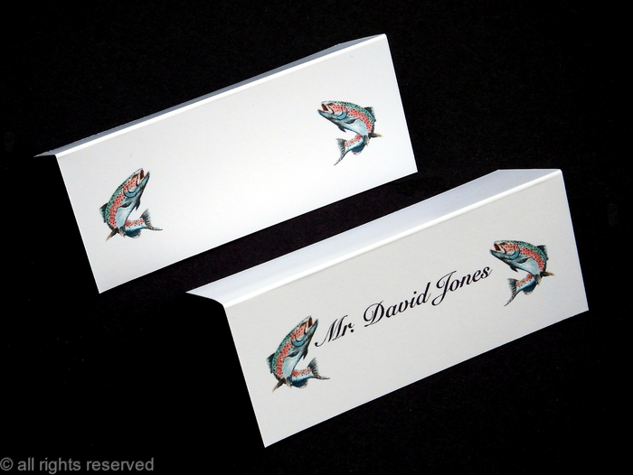 salmon place name card example with names printed or without names