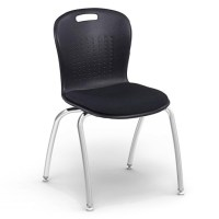 Virco Civitas Stack Chair W/ Padded Sage Shell (18 ...
