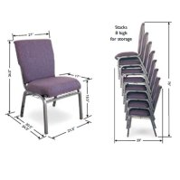 Mccourt Auditorium Padded Stack Chair - 105x0 | Wooden And ...