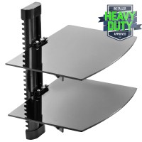 2 Shelf Floating Wall Mount DVD TV Component AV Console