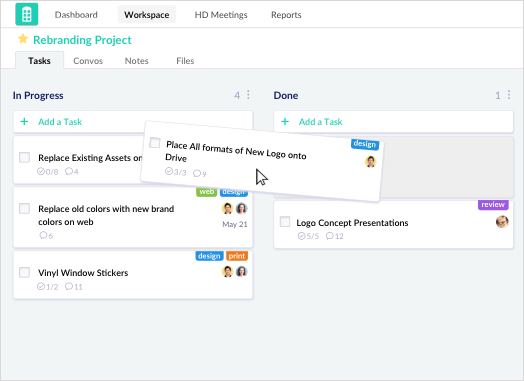 Kanban Board for Project Managment Redbooth