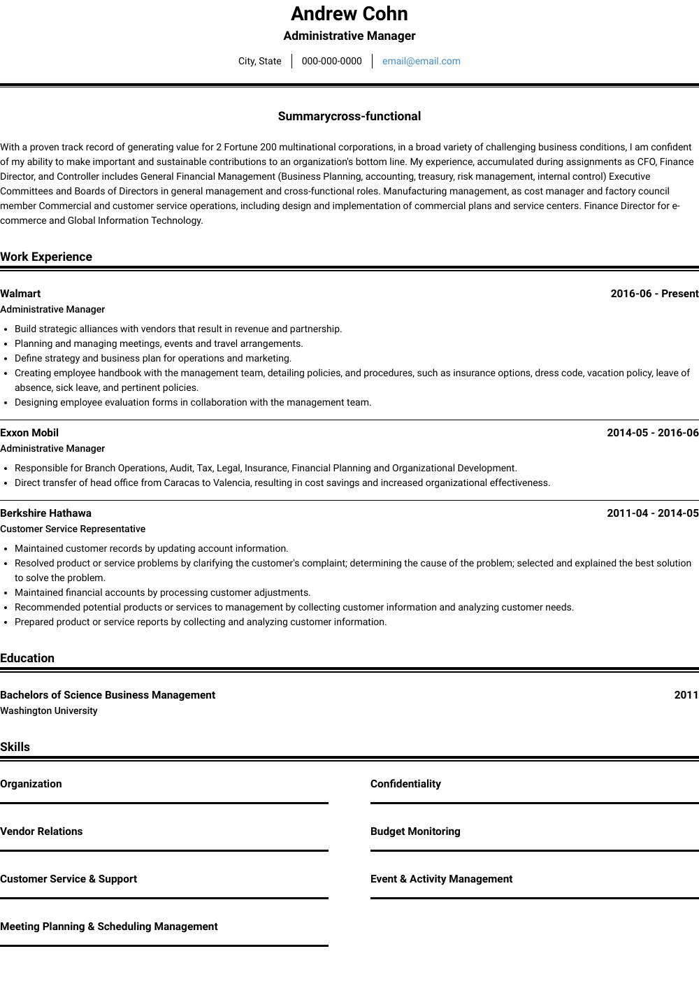 resume examples builder