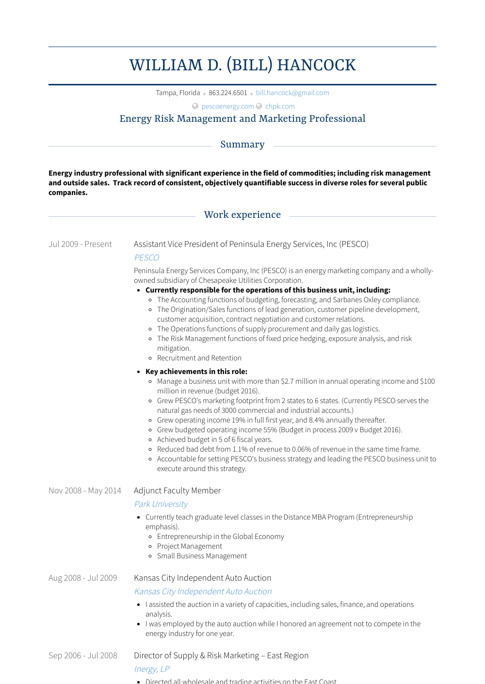 assistant vice president resume sample