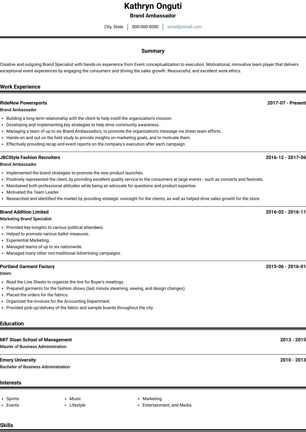 cv resume writing