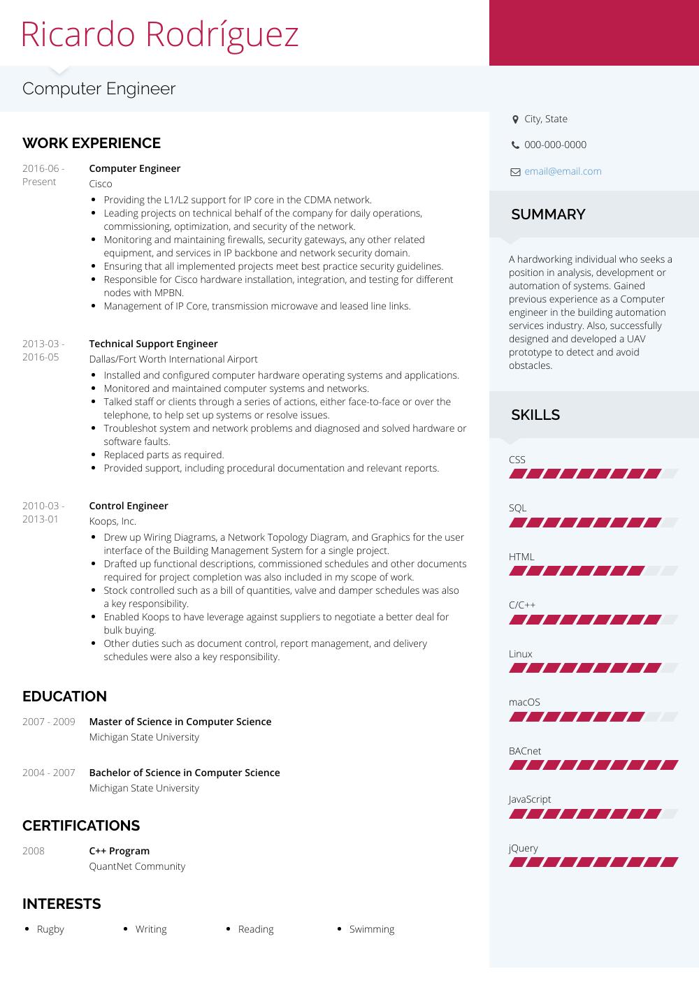 resume samples new