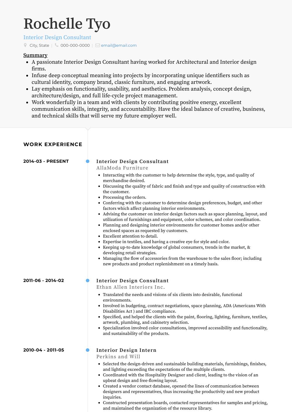 resume builder consultant
