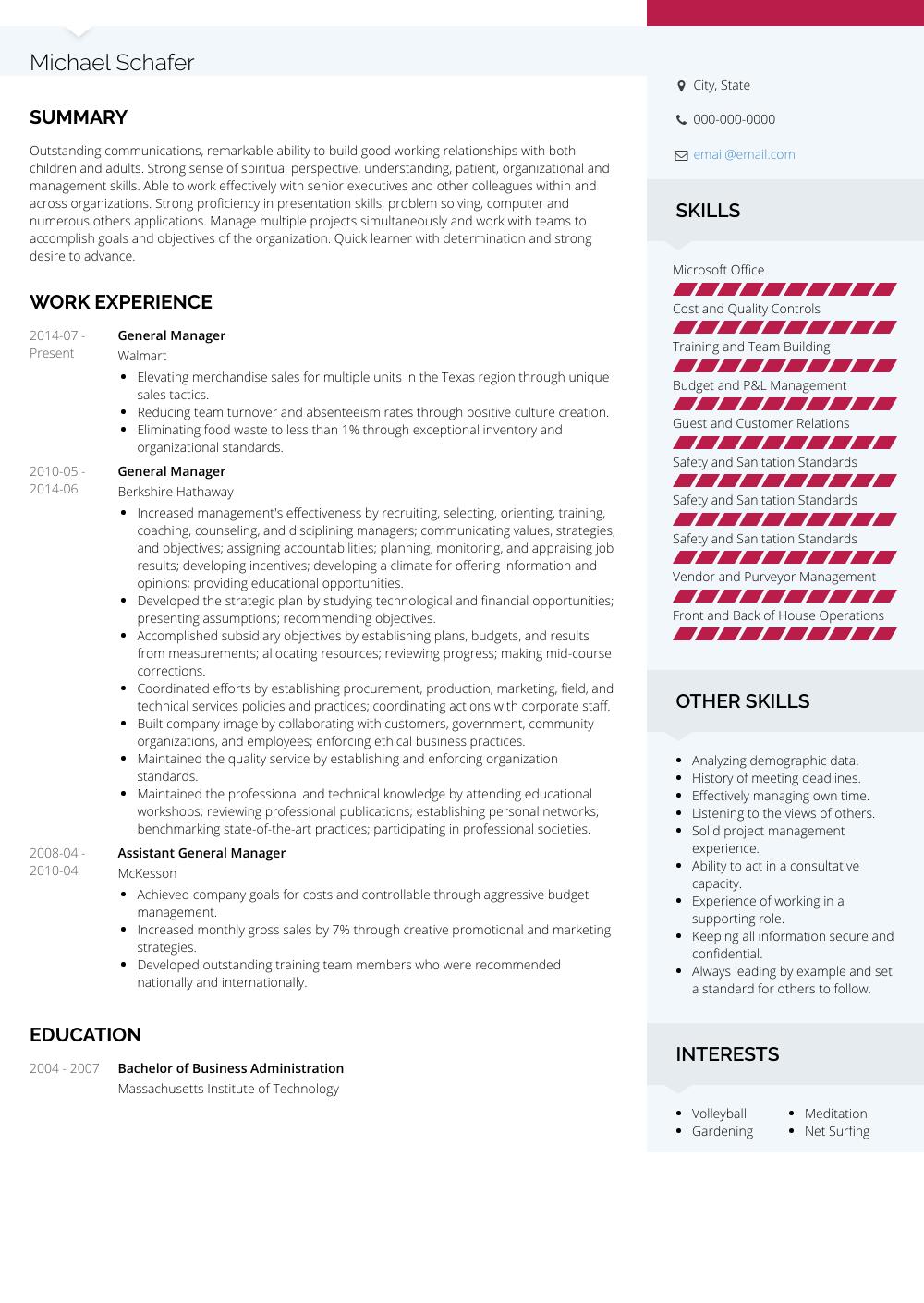 resume help samples