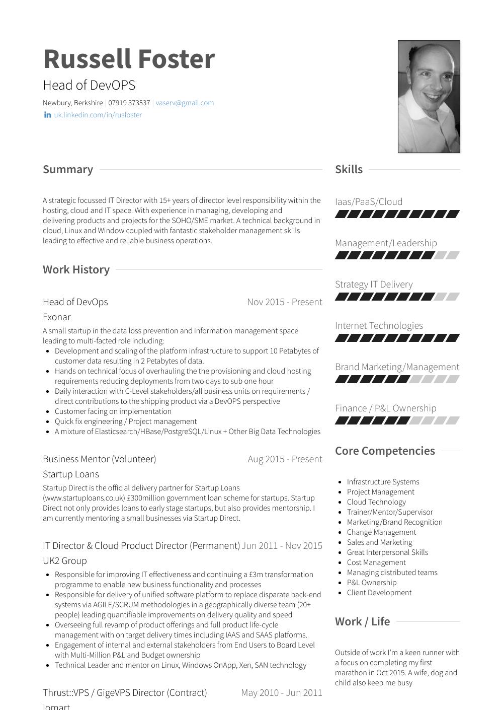 resume with volunteer experience