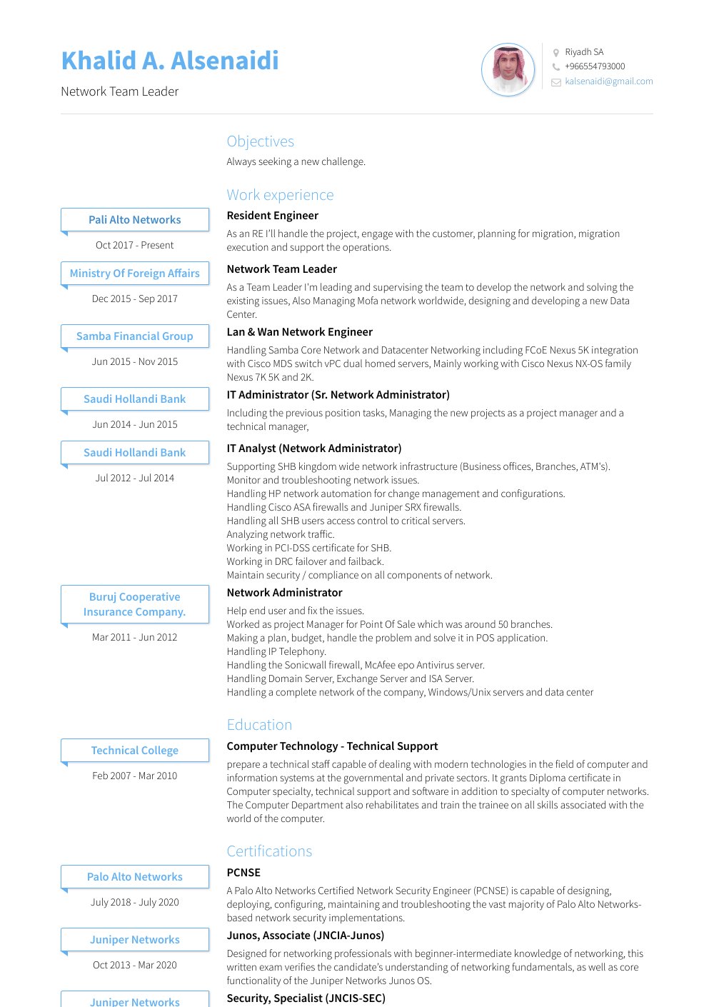 network administrator resume examples