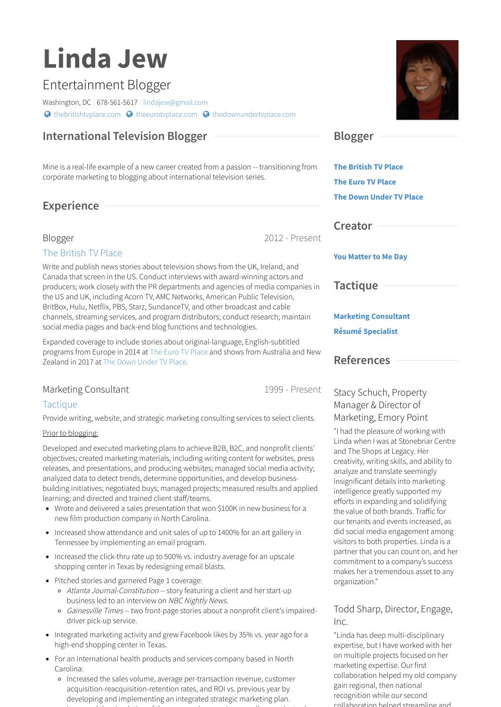 communications consultant resume sample