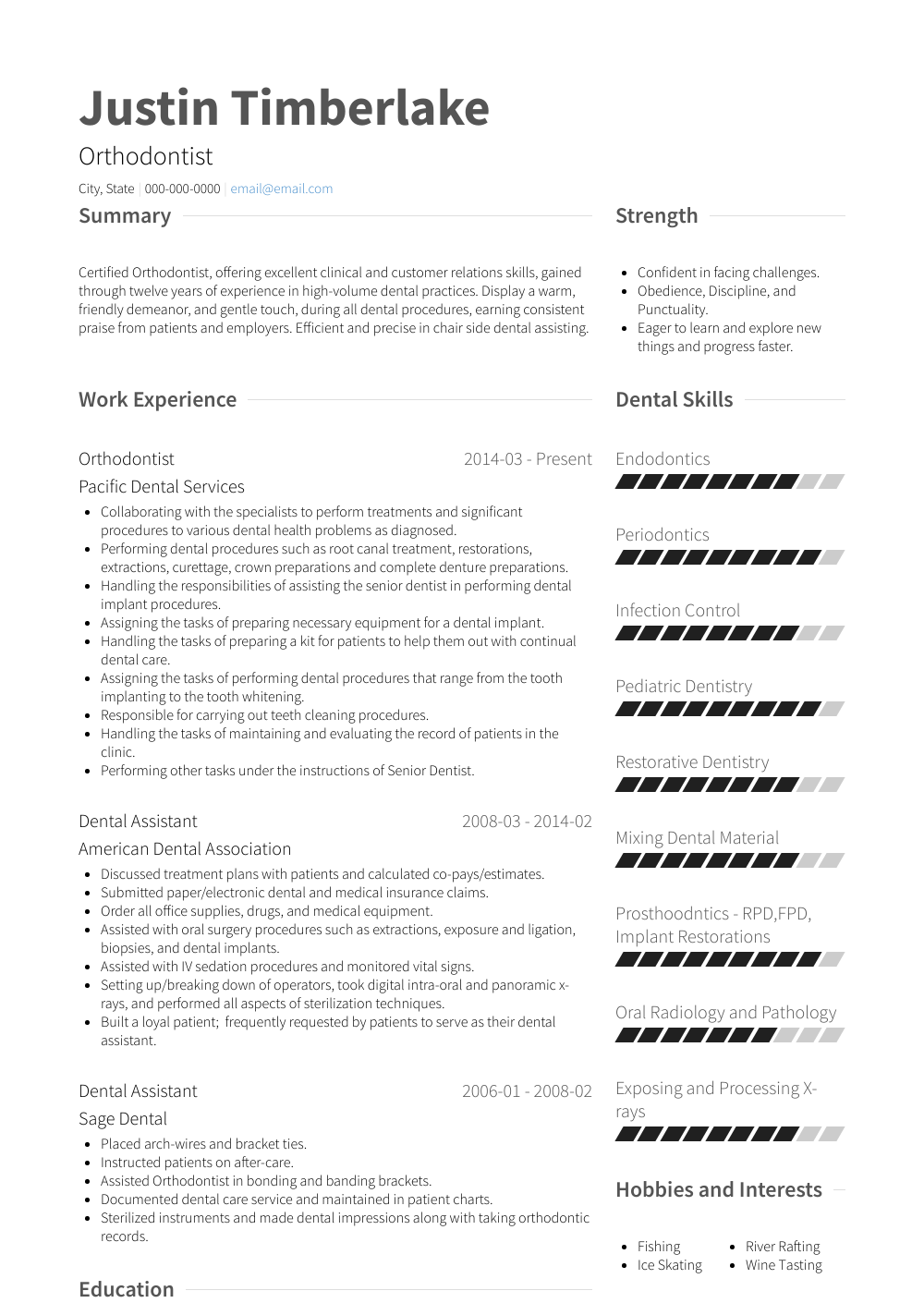 how to right cv examples
