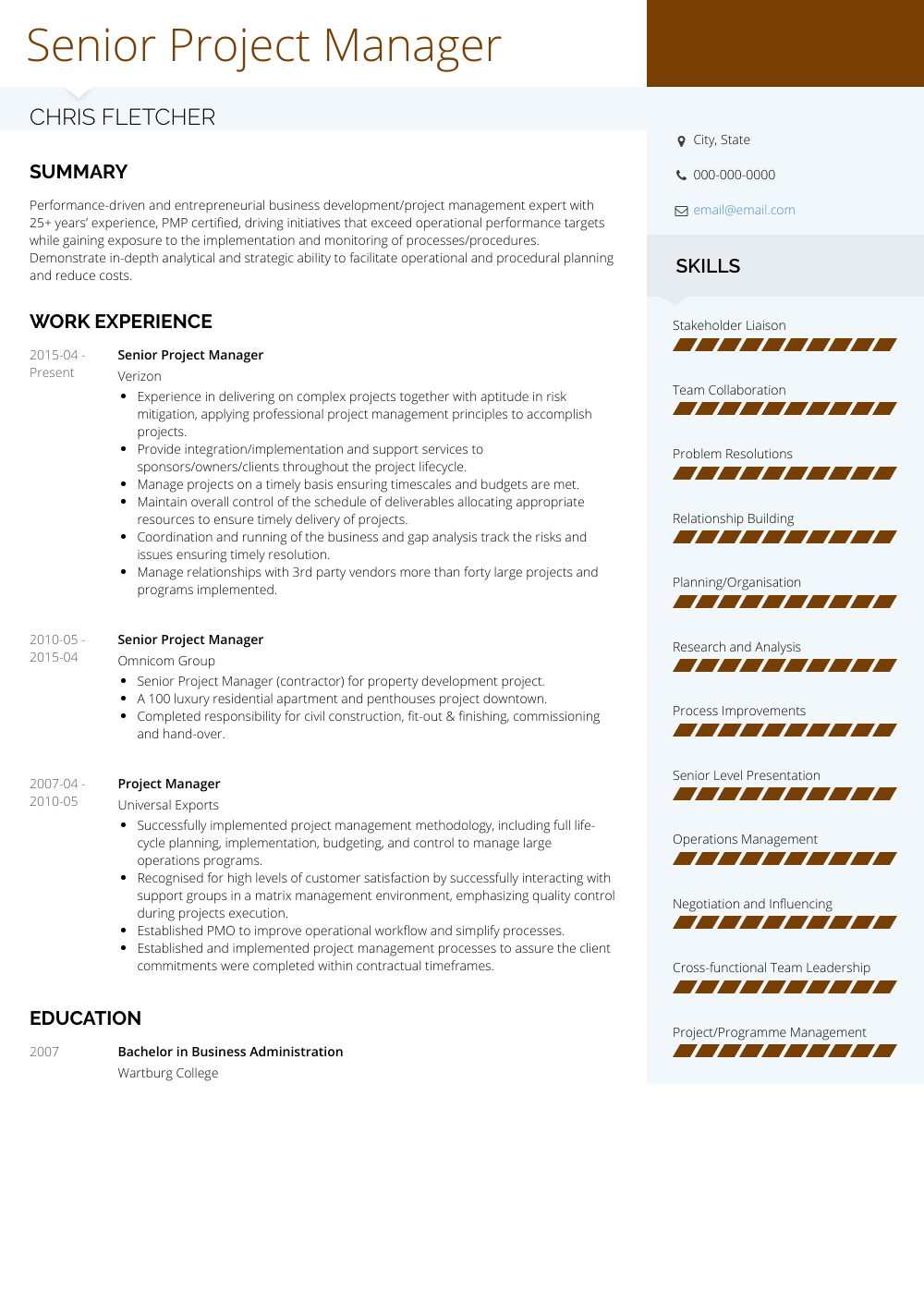 resume examples by real people senior project manager resume sample