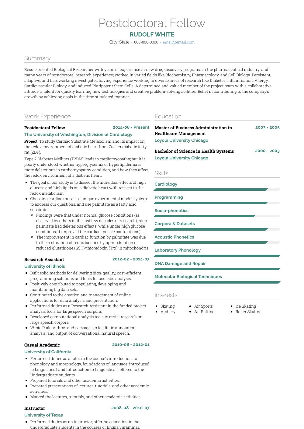 cv resume writing examples