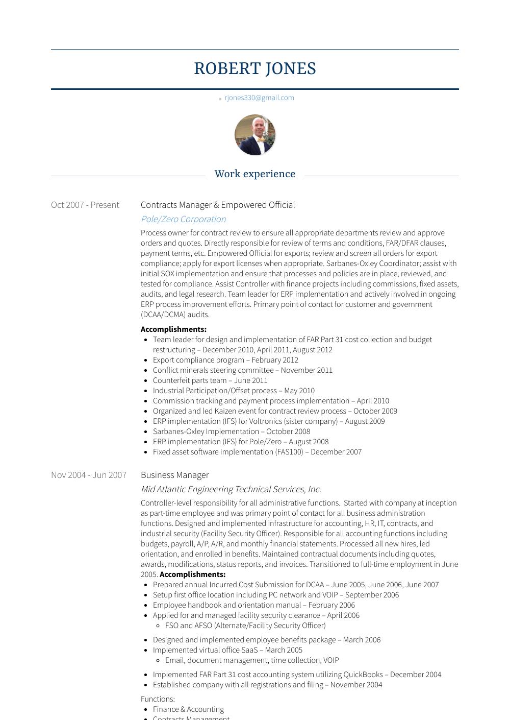 resume official cv format