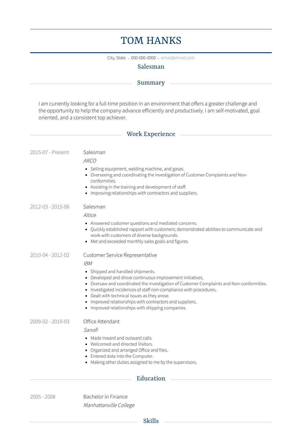 resume cover letter samples sales