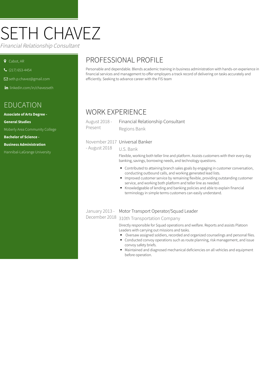 xml operator resume sample