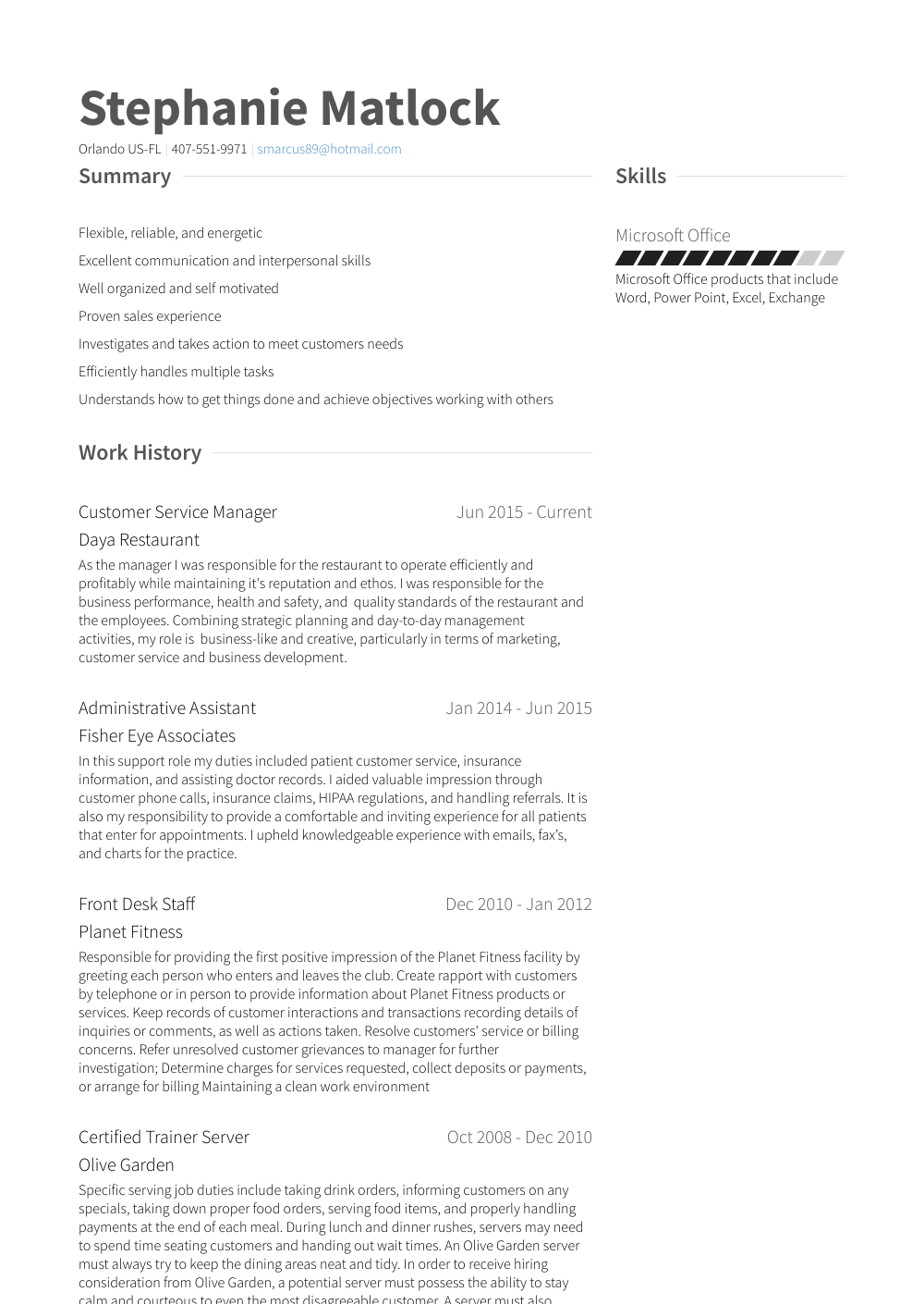mom resume samples
