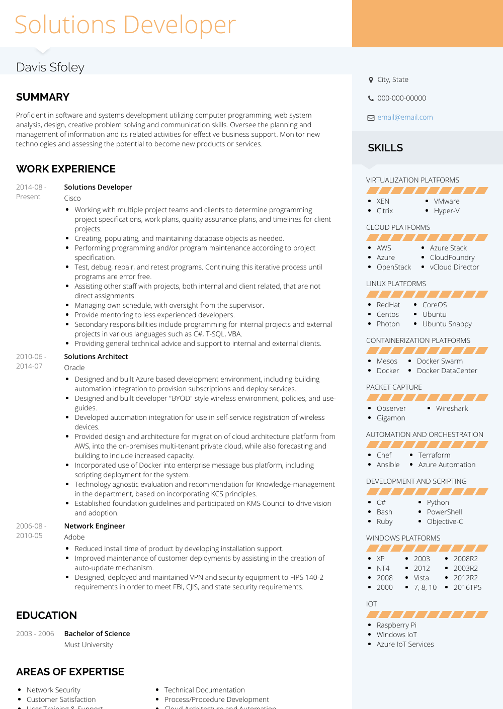goals on a professional resume example