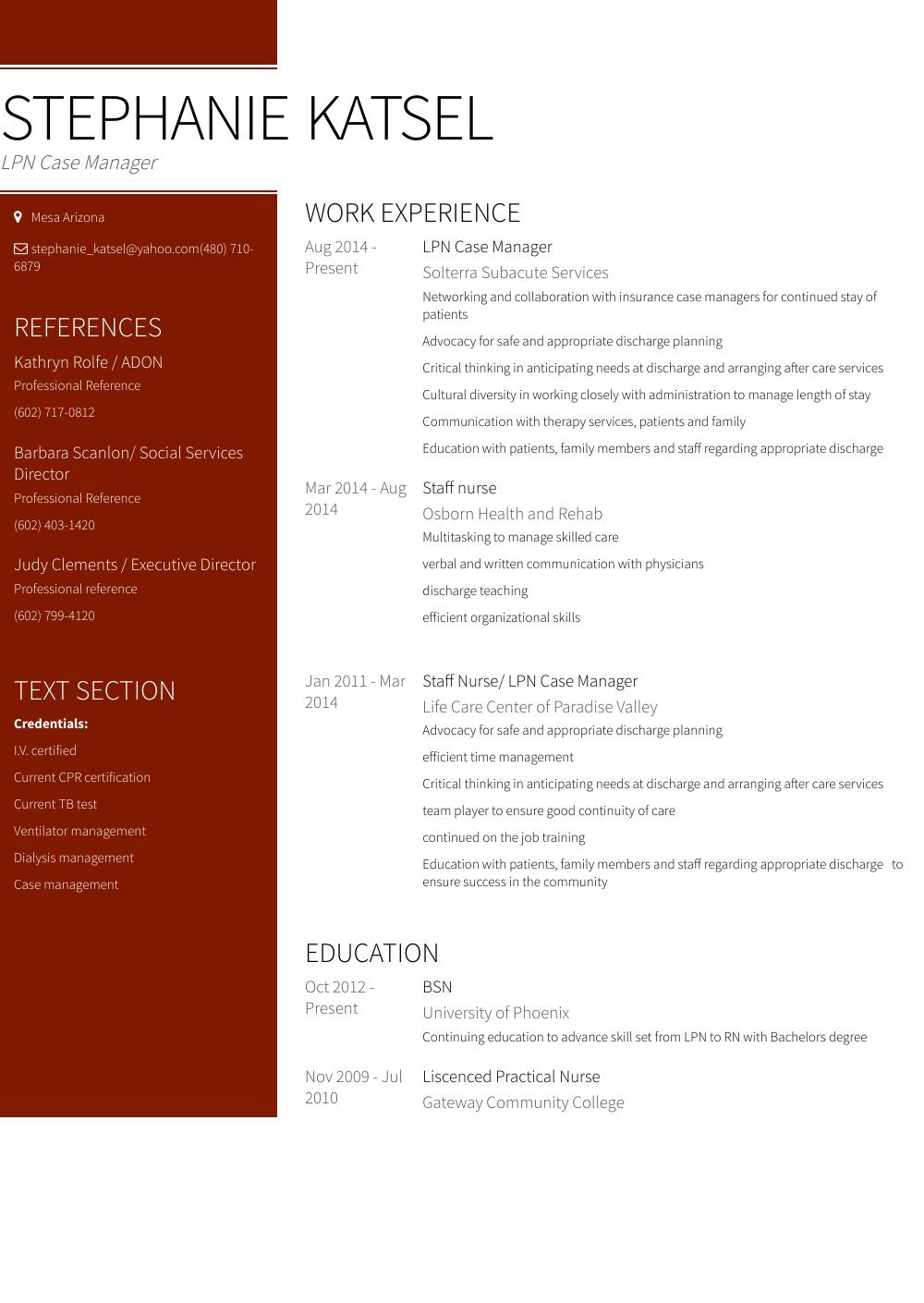resume tips for lpn
