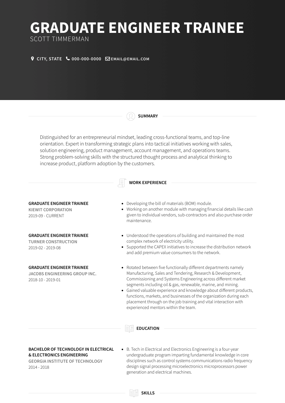 trainee cover letter