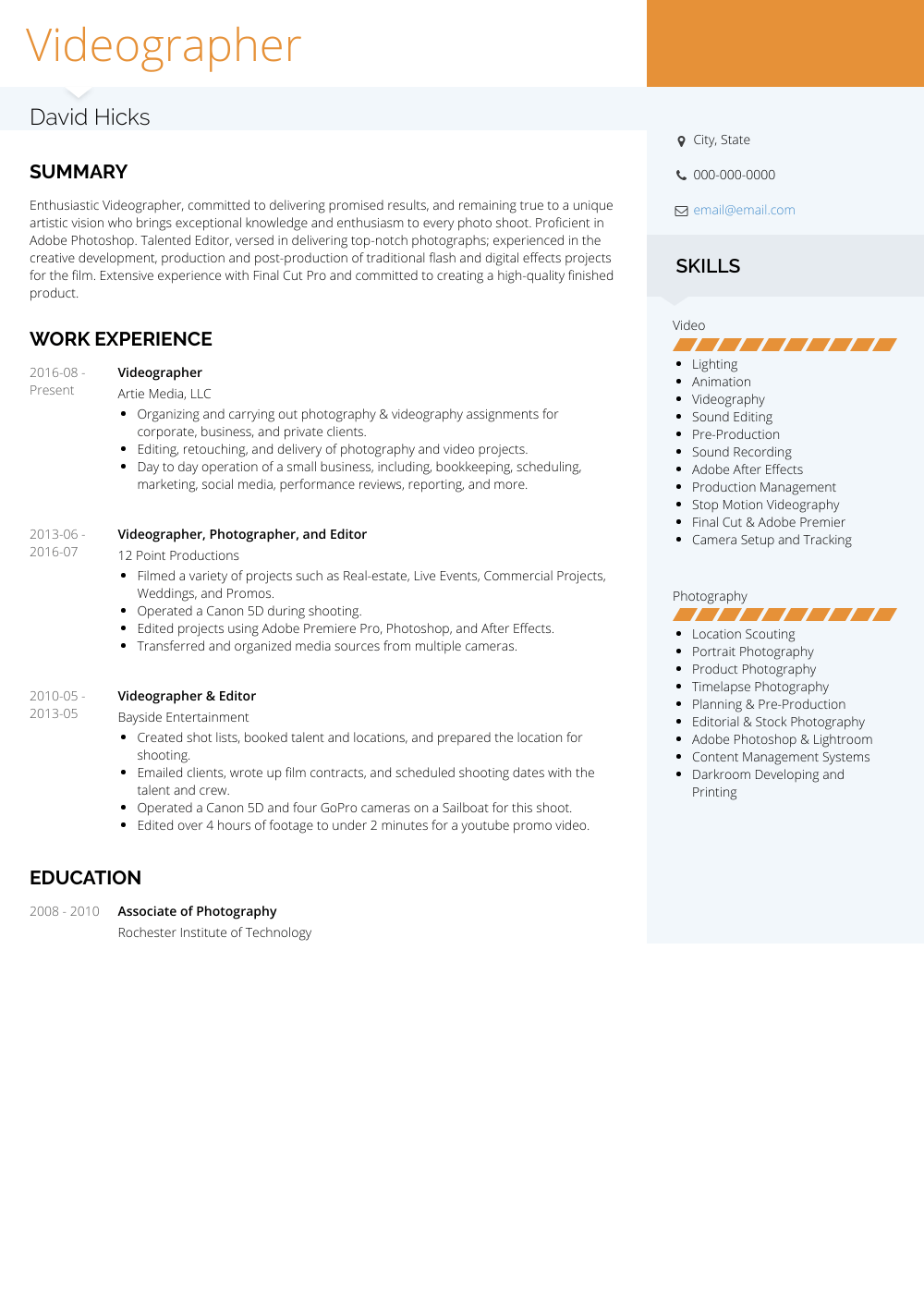 work experience on resume samples