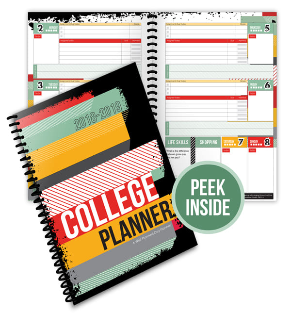 2018-2019 College/University Planner from Well Planned Gal