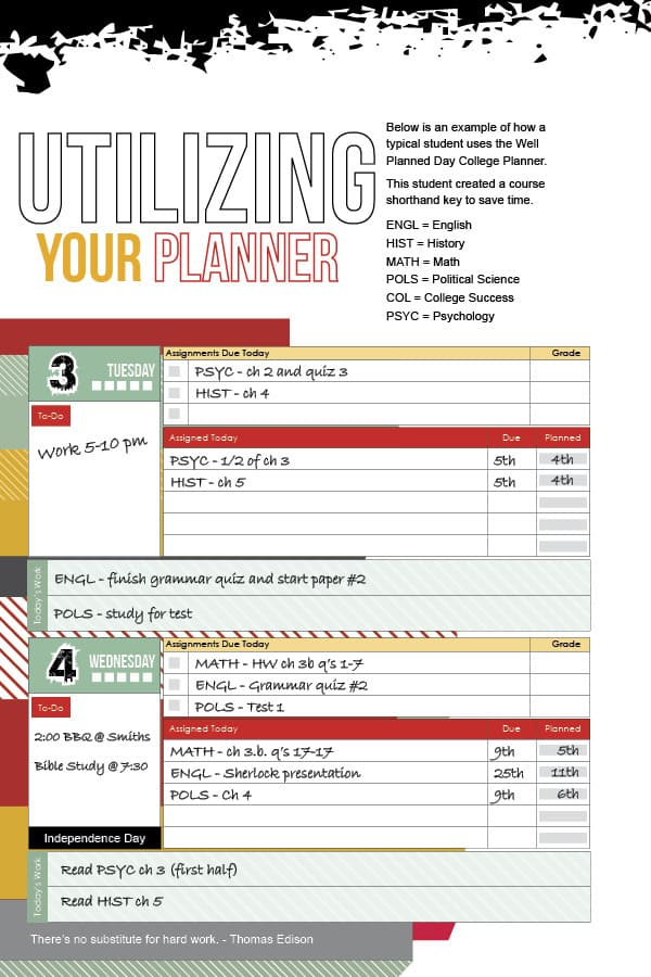 High School Planner Preview