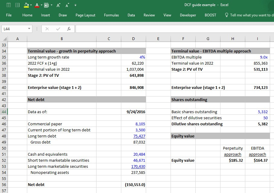 DCF Model Training 6 Steps to Building a DCF Model in Excel - Wall