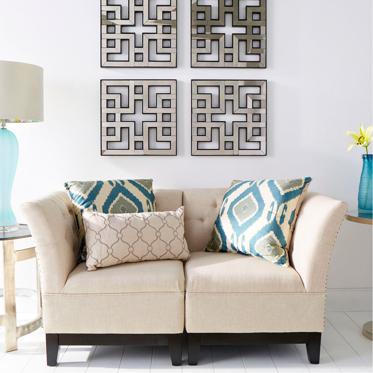 Asian Style Wall Mirrors Four Fretwork Wall Mirrors Asian Style Antiqued Wood Frame