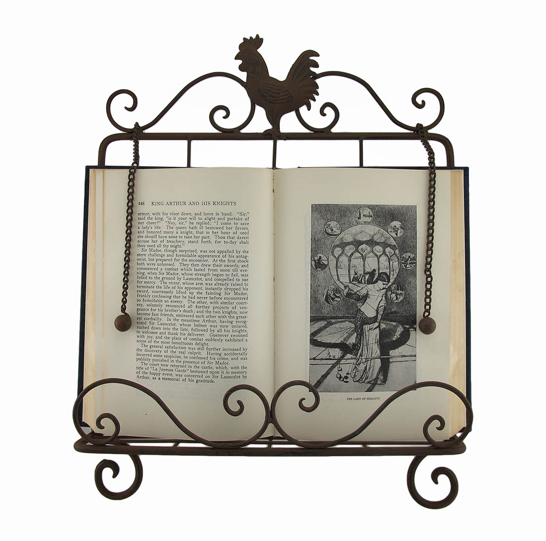 Book Holding Stand Rustic Metal Rooster Book Holder Easel Stand Ebay