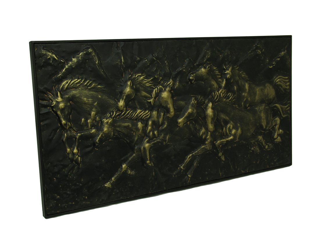 Wild Running Horses Decorative Metal Wall Art Hanging
