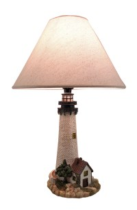 House On The Shore Decorative Lighthouse Table Lamp | eBay