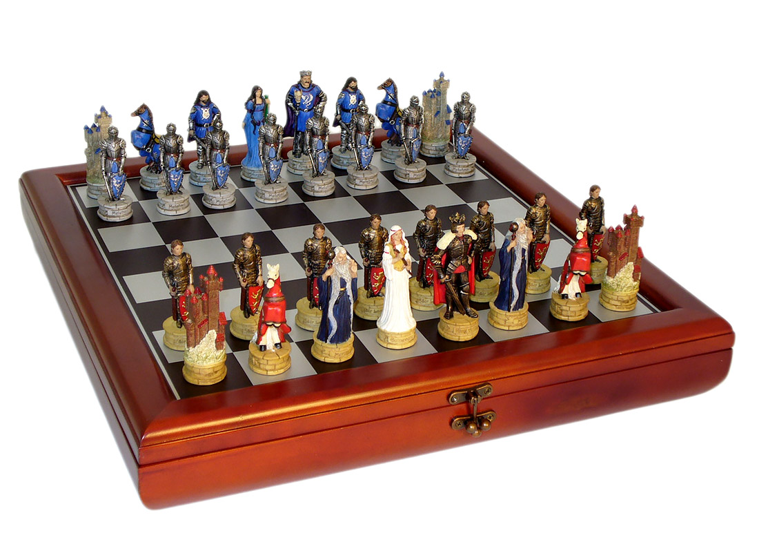 Chest Game Set King Arthur Court Chess Set With Chest Style Board Chess