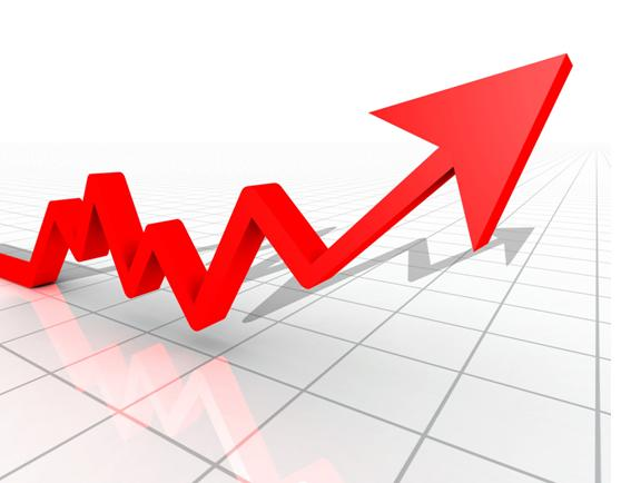 market going up arrow stocks chart graph - CARP - chart and graph