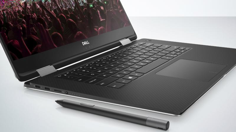 Dell\u0027s XPS 15 with a magnetic keyboard hogs attention at CES 2018