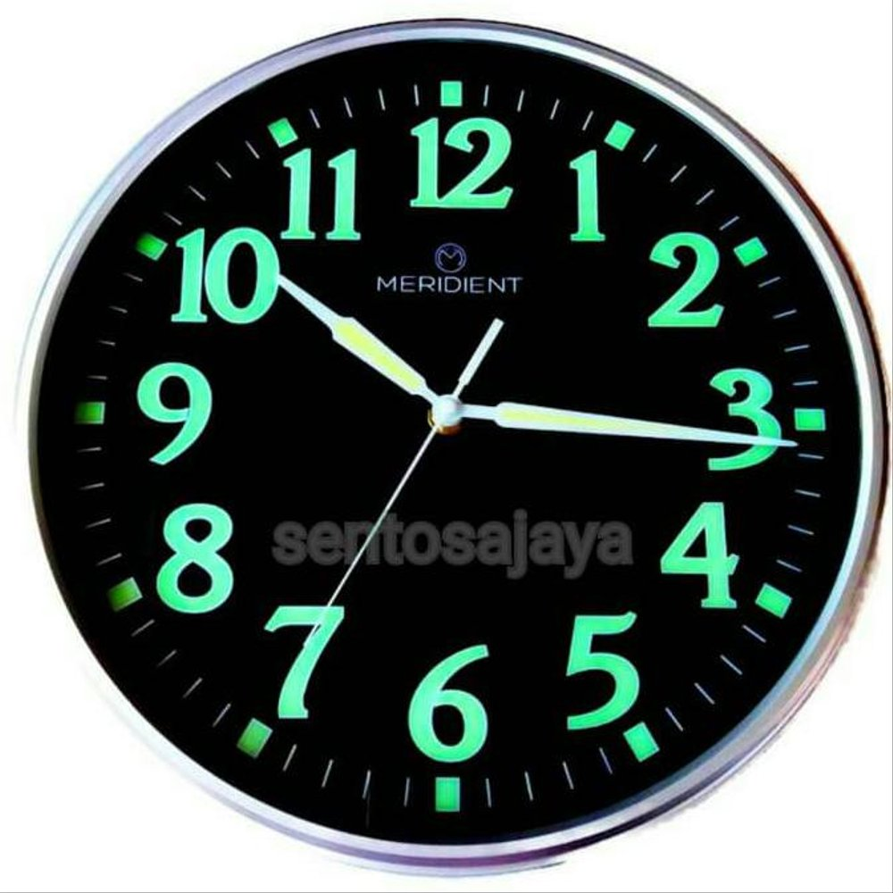 Mewarnai Jam Dinding Ready Stok Jam Dinding Glow In The Dark Meridient Minimalis Black
