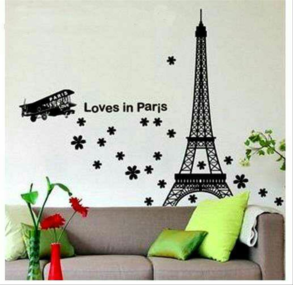 Wallpaper Kamar Paris Wallsticker Paris Wall Sticker Dinding Dekorasi Kamar Hiasan Dinding