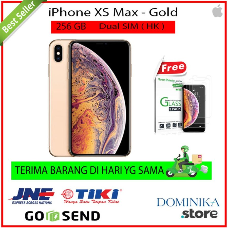 iPhone 256GB XS Max - Gold - Hongkong Set