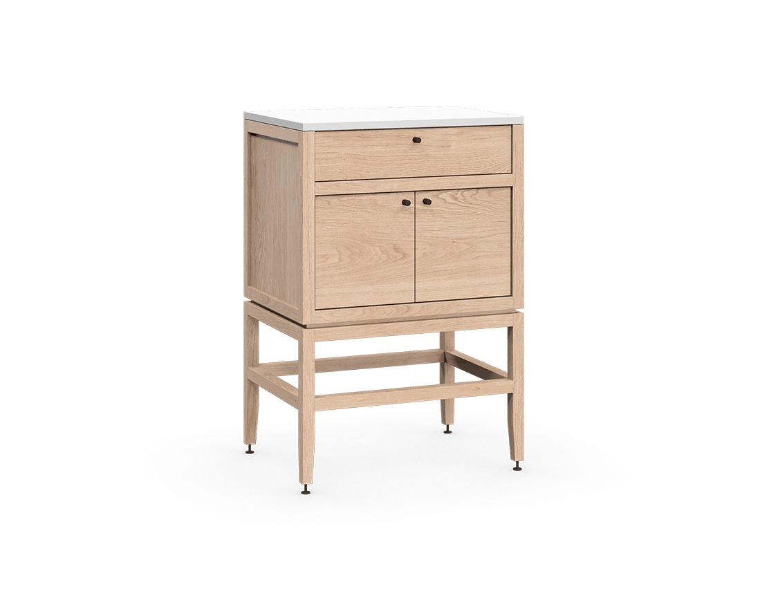 Volitare Storage Cabinet 1 Drawer 2 Doors 24wx18d White
