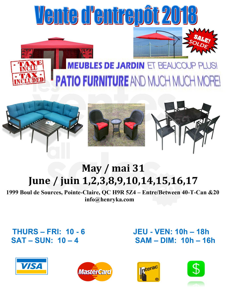 Meubles Furniture Warehouse Patio Outdoor Furniture Warehouse Sale Allsales Ca