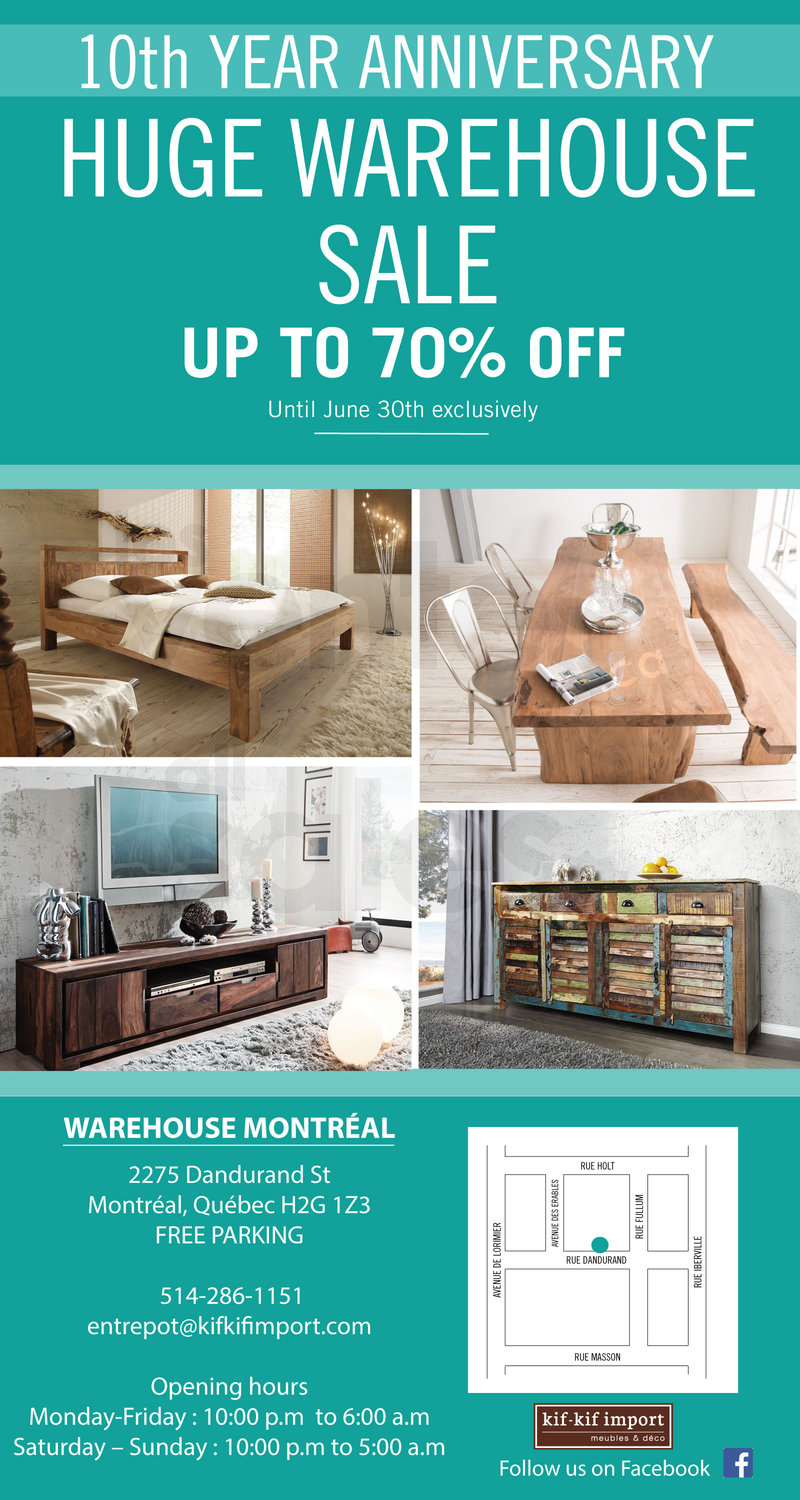 Meubles Furniture Warehouse Big Warehouse Sale Exotic Furniture 70 Allsales Ca