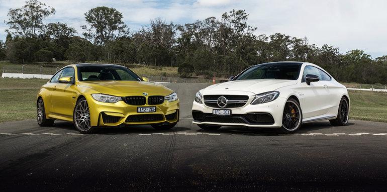 Bmw m4 competition v mercedes amg c63 s coupe track comparison