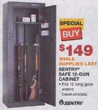 Black Friday Deal: Sentry Safe 12-Gun Cabinet