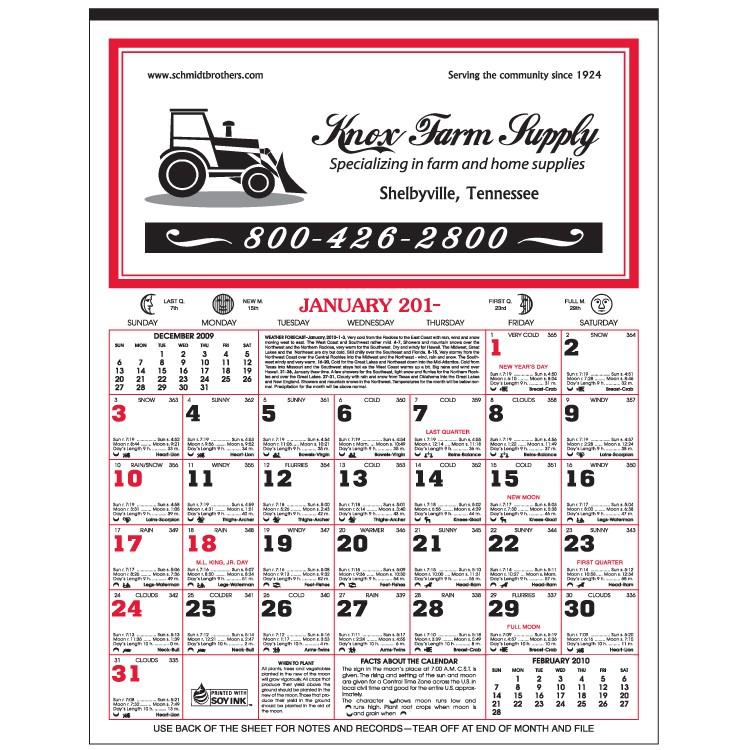 12-Sheet Almanac Calendar - 190-E Skinner  Kennedy Co Inc
